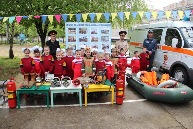 Пожарники на учении