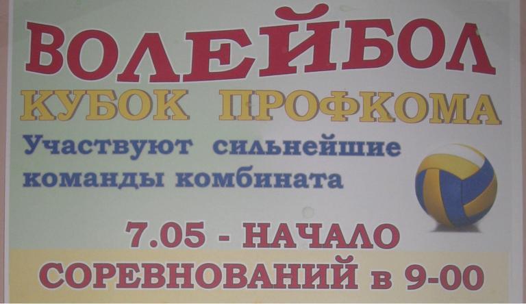 Кубок профкома по волейболу