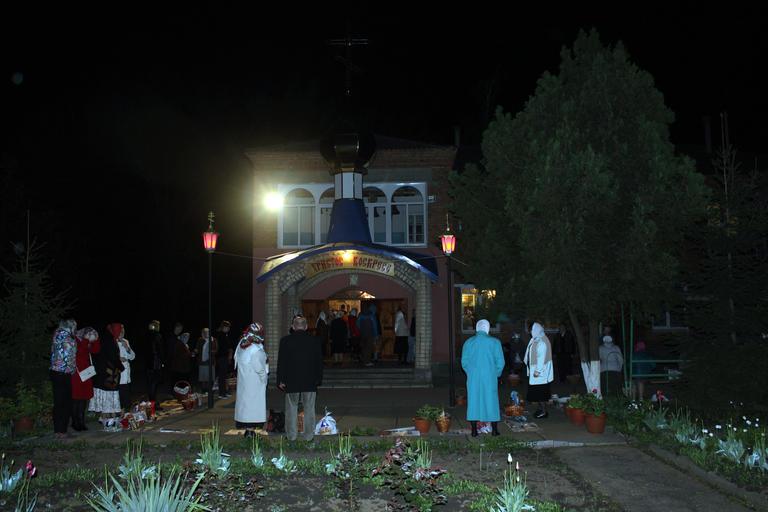 Пасха в храме Архангела Михаила