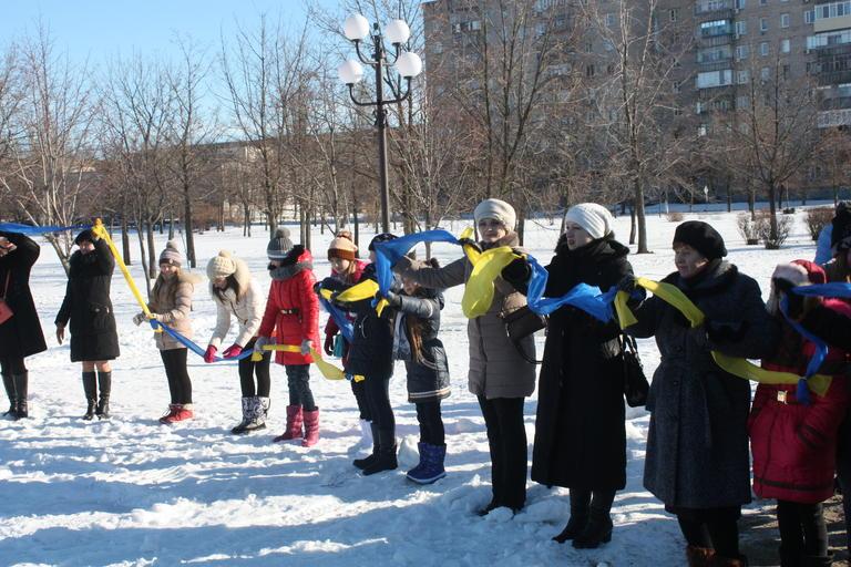 В Покрове отметили День соборности Украины (+ВИДЕО)