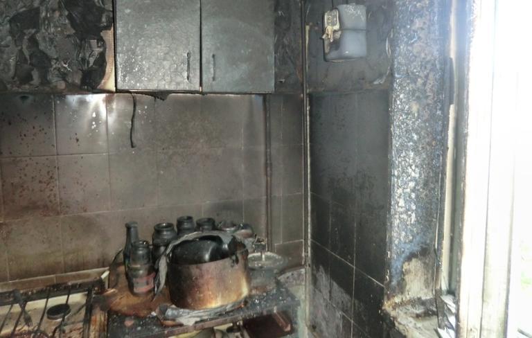 Під час пожежі врятовано літнього чоловіка