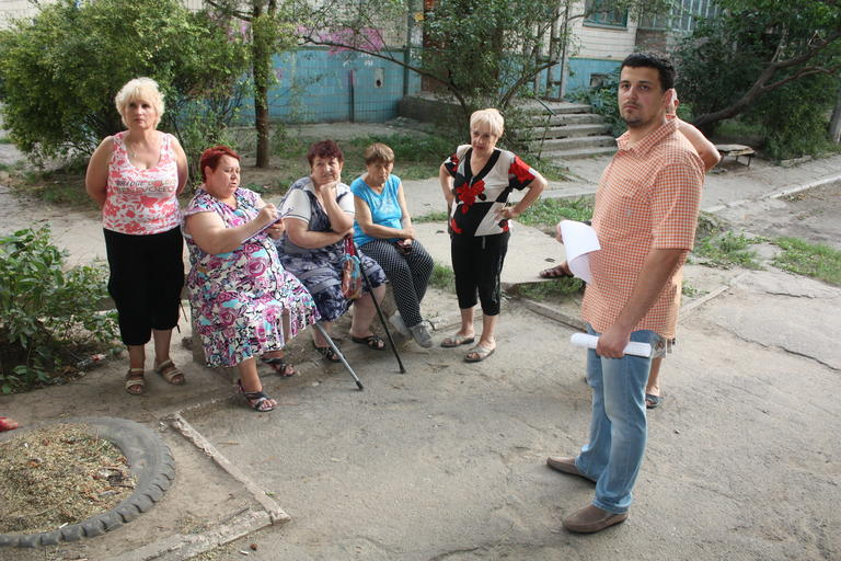 Встреча с жителями и обход округа