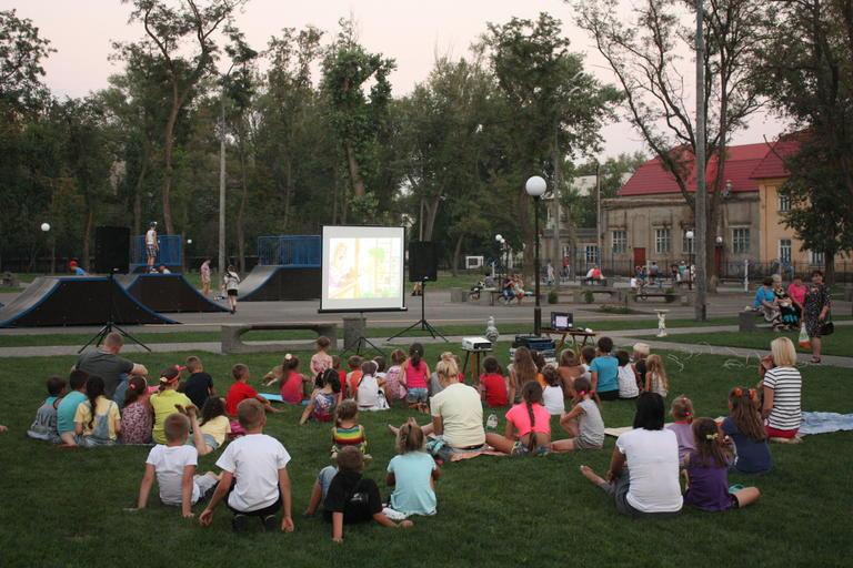 В парке снова показывали кино (ФОТО)