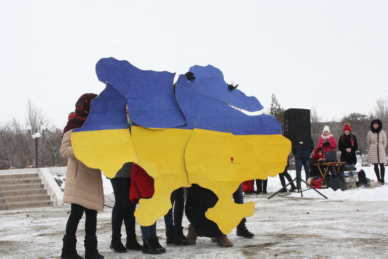 Покров відзначив День соборності України (додано ВІДЕО)