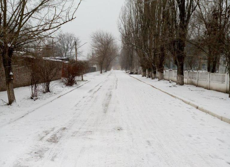 В Покрове выпал первый снег в новом году!