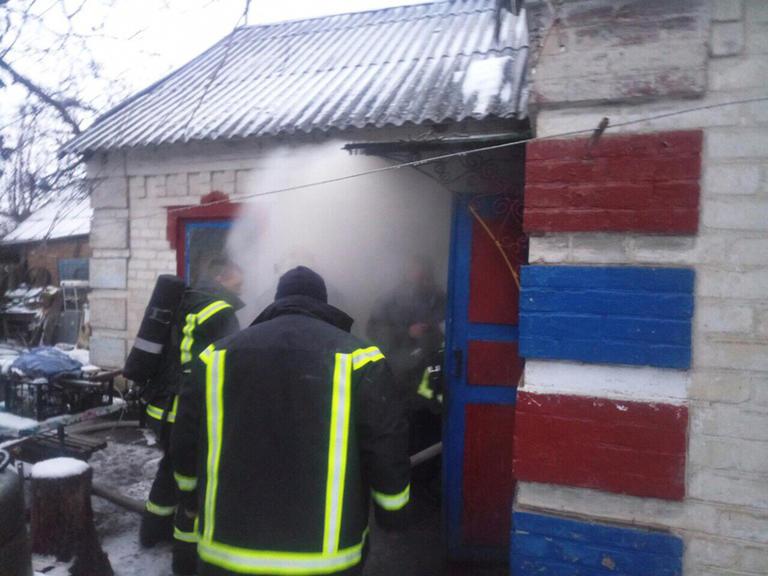 В Чертомлыке горел жилой дом