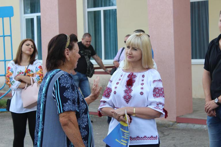 Олександра Сотула зустрілася з мешканцями Придніпровського (ВІДЕО)