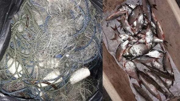 В Капуловке поймали рыболова-браконьера со 100-метровой сетью