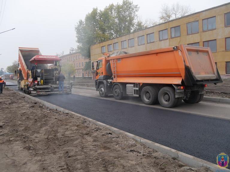 На Партизанській триває ремонт дорожного полотна