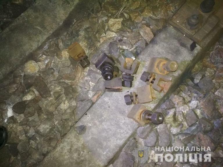 Полицейские задержали воров, которые повредили железнодорожный путь между станциями Апостолово и Дубки