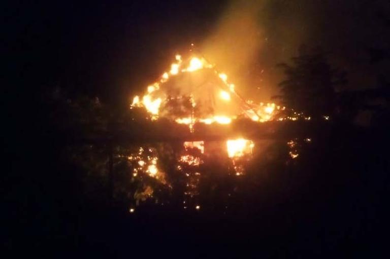 В Покрове горел частный дом