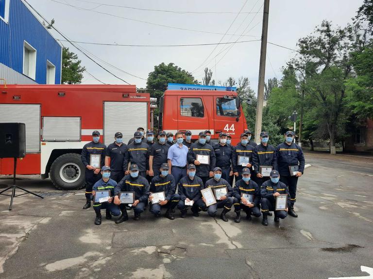 Рятувальників Покрова нагородили за участь у ліквідації пожежі у Чорнобильській зоні