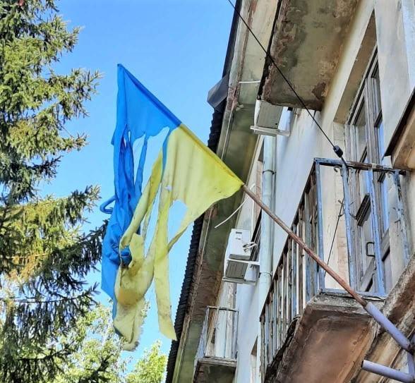 У Покрові поліція розслідує факт пошкодження Державного прапору України