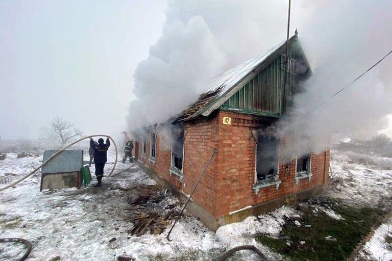 В Шолохово горел жилой дом
