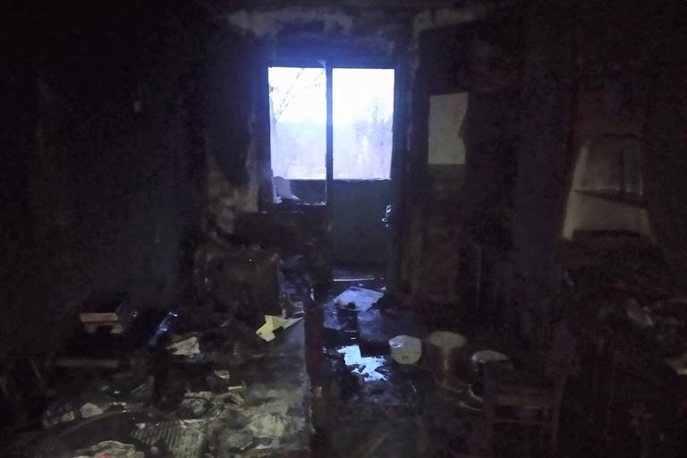 В Покрове на пожаре пострадал человек